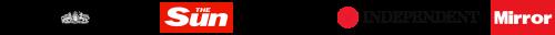 banner of news logos